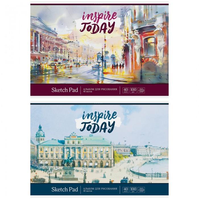 Принадлежности для рисования Спейс Альбом для рисования Акварель Город 40 листов принадлежности для рисования спейс альбом для рисования путешествия grand city 40 листов