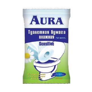 Хозяйственные товары Aura Влажная туалетная бумага 20 шт. туалетная бумага с анекдотами