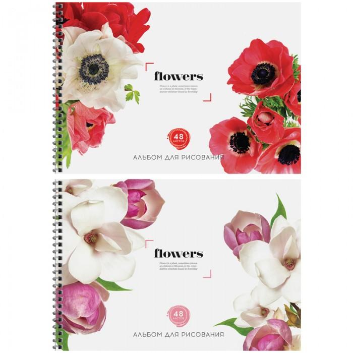 Принадлежности для рисования Спейс Альбом для рисования Цветы Flowers 48 листов альбом планшет для профессионального рисования европа 50 листов гребень с1726 04