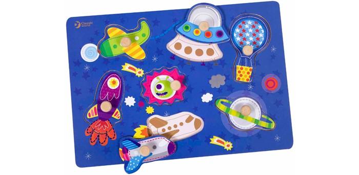 Пазлы Classic World Развивающий пазл Космическое путешествие бусины и горки classic world