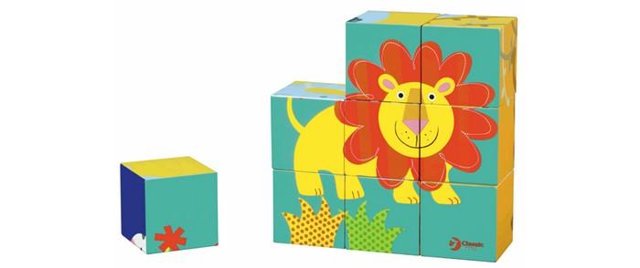 classic world из дерева создай свой собственный гараж Деревянные игрушки Classic World Кубики-пазлы Приключения в джунглях