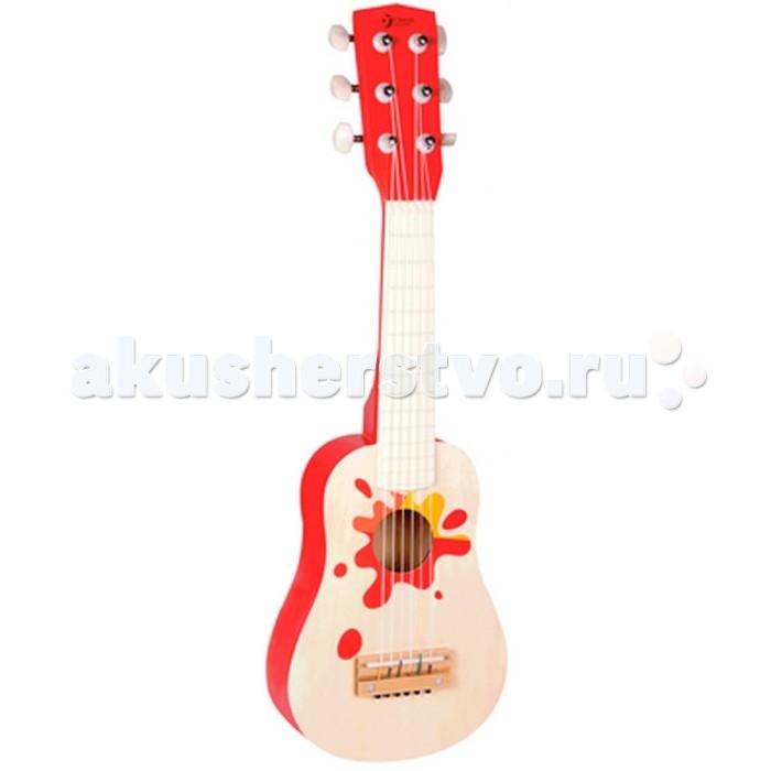 Музыкальная игрушка Classic World Деревянная гитара ГавайиДеревянная гитара ГавайиДеревянная гитара Гавайи классический музыкальный инструмент с 6 нейлоновыми струнами.  Играя с этим музыкальным инструментом ребёнок сможет самостоятельно придумывать различные музыкальные композиции, что прекрасно способствует развитию творческого мышления, музыкального интеллекта, чувства ритма и такта.    Гитара изготовлена из экологически чистого дерева с использованием красок, безопасных для здоровья ребенка.<br>