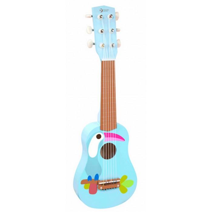 Музыкальные игрушки Classic World Деревянная гитара Тукан classic world классический самолет 27 деталей