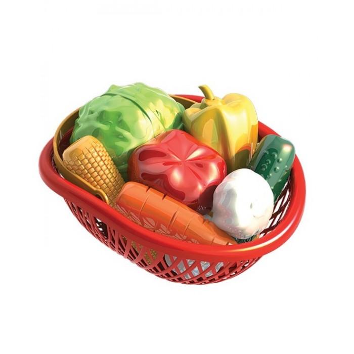 Ролевые игры Нордпласт Набор Овощи в лукошке (10 предметов) ролевые игры нордпласт горшок для куклы