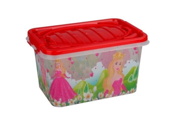 Ящики для игрушек Альтернатива (Башпласт) Контейнер Принцесса прямоугольный 15 л пластиковая мебель альтернатива башпласт кресло детское принцесса