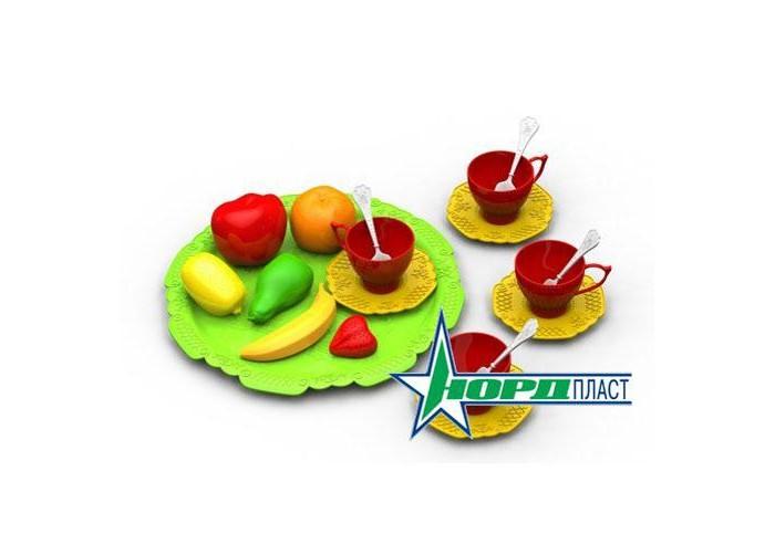 Ролевые игры Нордпласт Набор фруктов и чайной посуды Волшебная Хозяюшка