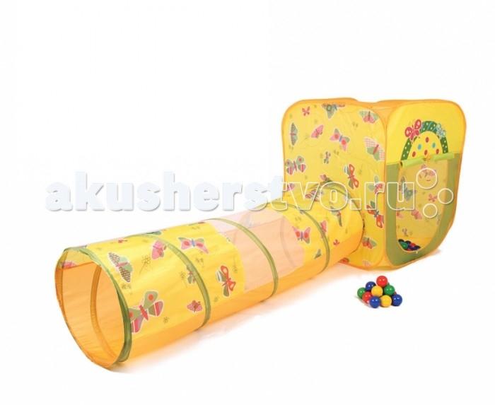 Палатки-домики Bony Игровой домик с тоннелем с шариками Квадрат Бабочки смартфон zte blade v8 mini 32gb gold