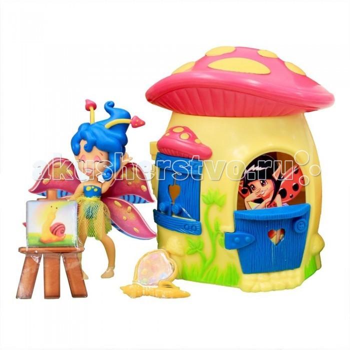 Игровые наборы Fairykins Игровой набор - Фея Спора и лесной домик-гриб набор фигурок brix n clix фея ла ди и яблочный домик 9 см 84208 2