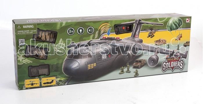Chap Mei Игровой набор Нано-Армия - Транспортный самолет с наполнениемИгровой набор Нано-Армия - Транспортный самолет с наполнениемИгровой набор Нано-Армия - это грузовой военный самолет, созданный для того, чтобы перевозить военную технику. На его борту помещается несколько единиц техники и солдаты. В наборе вместе с самолетом представлены 2 броневика, 2 танка, 2 вертолета, а также парашют для десантирования техники и боевой отряд десантников.  Детали игрушек тщательно проработаны, однако для еще большей реалистичности самолет оснащен световыми и звуковыми эффектами, которые управляются с помощью кнопок на корпусе.  Комплектация набора:   Грузовой десантный самолет; Большой парашют для техники; 2 броневика; 2 танка; 2 вертолета; Фигурки десантников.  Особенности:  Размер упаковки: 64 х 11.5 х 21.5 см<br>