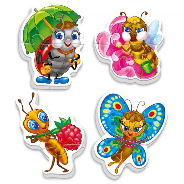 Пазлы Vladi toys Пазлы мягкие Baby puzzle Насекомые пазлы crystal puzzle 3d головоломка вулкан 40 деталей