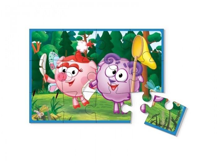 Пазлы Vladi toys Пазлы мягкие А5 Смешарики (12 элементов) vladi toys мягкие пазлы смешарики vladi toys