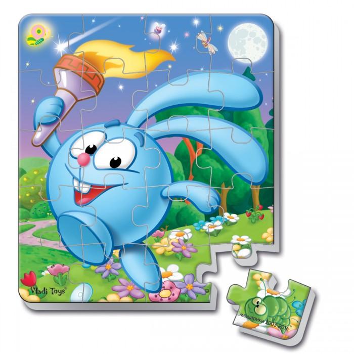 Пазлы Vladi toys Пазлы мягкие магнитные в стакане Смешарики Крош (20 элементов) пазлы бомик пазлы книжка репка