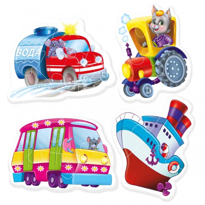 Пазлы Vladi toys Пазлы мягкие Baby puzzle Транспорт (15 элементов) пазлы crystal puzzle 3d головоломка вулкан 40 деталей