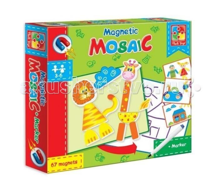 Мозаика Vladi toys Мозаика магнитная Львенок и Жираф (67 деталей) мозаика vladi toys мозаика магнитная львенок и жираф 67 деталей