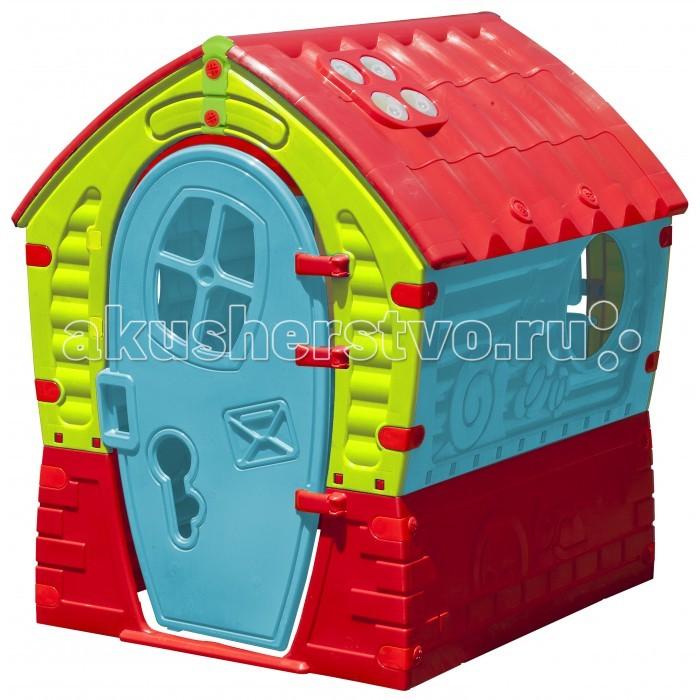 Palplay (Marian Plast) Игровой домик ЛилипутИгровой домик ЛилипутПредназначен для детей от 2х лет. Удобный красивый вместительный домик для веселой игры. Отлично подойдет как для одного малыша, так и для коллективных игр. Домик можно использовать для помещения и улицы, он отлично впишется в саду на даче во время летнего загородного отдыха. Одна из самых популярных моделей, благодаря ярким расцветкам и компактности. Описание и характеристика: домик легко собирается, детали соединяются и закрепляются специальными пластиковыми гайками, которые входят в комплект; конструкция домика очень надёжная и устойчивая; вход с открывающейся дверкой; три окошка в доме, одно со ставенками, и два на террасе. Домик идет без аксессуаров. Качество пластмассы — отличное, дизайн – стильный, расцветка – ярких сочных веселых тонов. Размер домика: 95x90x110 h см. «Marian plast», производство Израиль.<br>