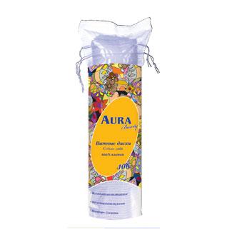 Гигиена для мамы Aura Ватные диски 100 шт. ватные диски aura солнце и луна 70 шт