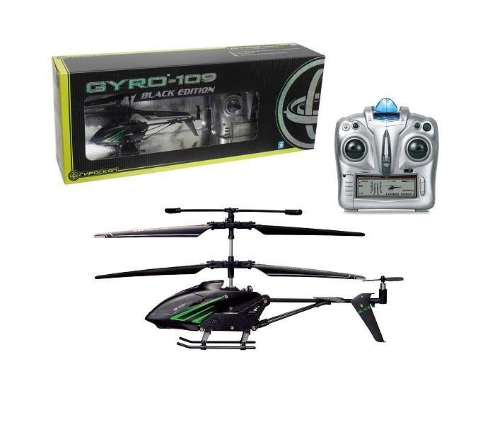 1 Toy Вертолет GYRO-109 Black EditionВертолет GYRO-109 Black Edition1 Toy Вертолет GYRO-109 Black Edition Т58768  Металлический вертолет на радиоуправлении Gyro-109 - игрушечная модель, оснащенная гироскопом, устройством, которое отвечает за стабилизацию положения предмета в воздухе во время полета. Вертолет может летать как в помещении, так и на открытом воздухе в безветренную погоду. Во время полета у игрушки активируются световые эффекты. Управлять вертолетом необходимо в помощью пульта. С такой игрушкой каждый мальчик может представить себя первоклассным пилотом.  Комплект: вертолет, пульт д/у, винт, аккумулятор, usb кабель, зарядное устройство. Наличие батареек: не входят в комплект. Тип батареек: 2 x AA / LR6 1.5V (пальчиковые). Время игры: 8 мин. Время зарядки: 40 мин. Дальность действия: 10 м. Размер игрушки: 18.5 х 3.5 х 9.3 см.<br>