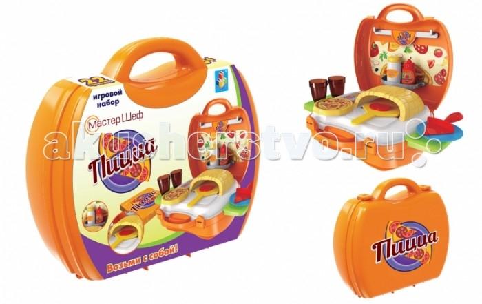 Ролевые игры 1 Toy Игровой набор в чемоданчике Мастер-Шеф Пицца 22 предмета игровые наборы ecoiffier игровой набор вафельница 22 предмета