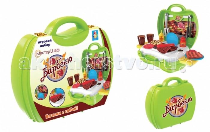 Ролевые игры 1 Toy Игровой набор в чемоданчике Мастер-Шеф Барбекю 23 предмета