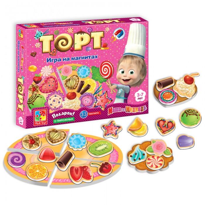 Ролевые игры Vladi toys Игра магнитная Юный повар Торт мозаика vladi toys мозаика магнитная львенок и жираф 67 деталей