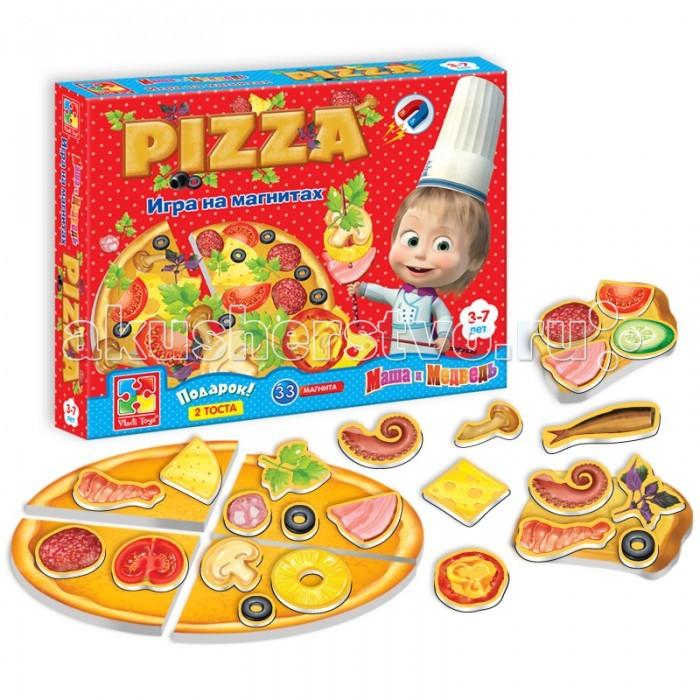 Ролевые игры Vladi toys Игра магнитная Юный повар Пицца мозаика vladi toys мозаика магнитная львенок и жираф 67 деталей