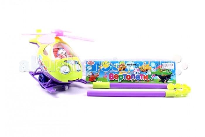 Каталки-игрушки Play Smart Вертолетик 29 см play smart play smart железная дорога мой первый поезд 11 элементов