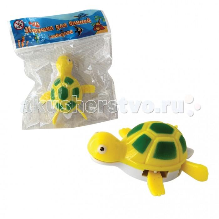 Игрушки для ванны Тилибом Заводная игрушка для ванной Черепаха 7 см игрушка для кошек трикси мышка заводная 7 см
