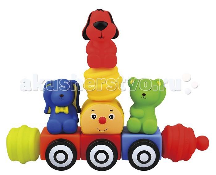 Развивающие игрушки KS Kids Мягкий конструктор Поезд друзей