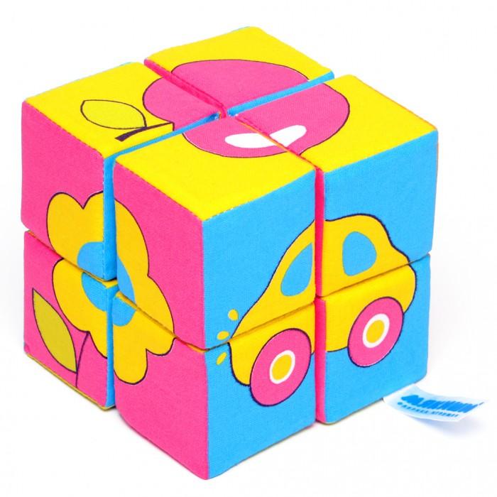 Развивающие игрушки Мякиши Кубики Собери картинку Предметы