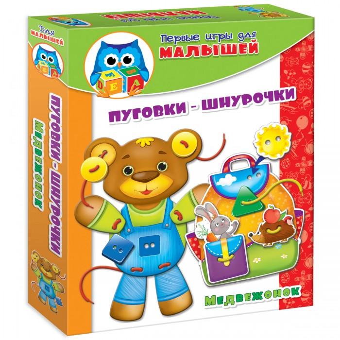 Развивающие игрушки Vladi toys НИ пуговки-шнурочки Медвежонок развивающие игрушки tolo toys кенгуру первые друзья