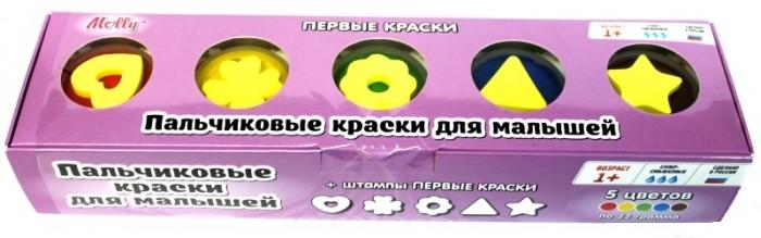 Краски Molly Пальчиковые краски со штампиками Первые краски краски спейс краски пальчиковые 6 цветов сенсорные