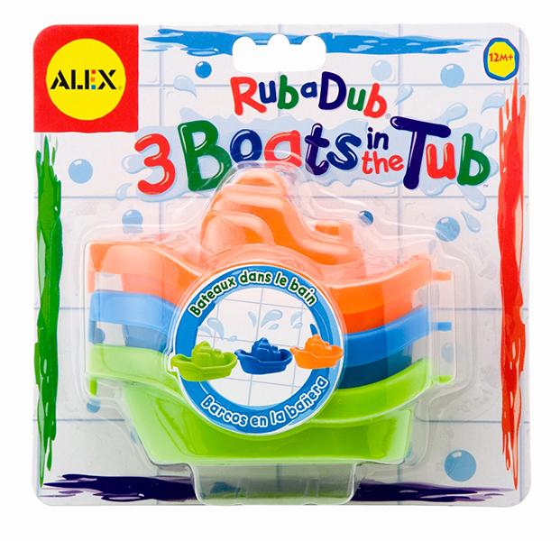 Игрушки для ванны Alex Игрушки для ванной Цветные лодочки игрушки для детей