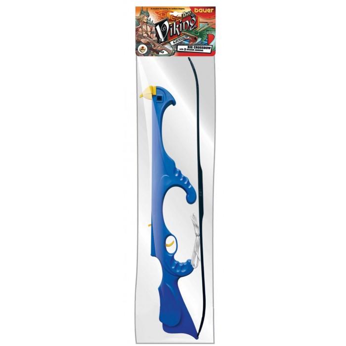 Игрушечное оружие Bauer Игрушечный Арбалет большой Викинг с тремя стрелами на присосках 12/12 abtoys со стрелами на присосках