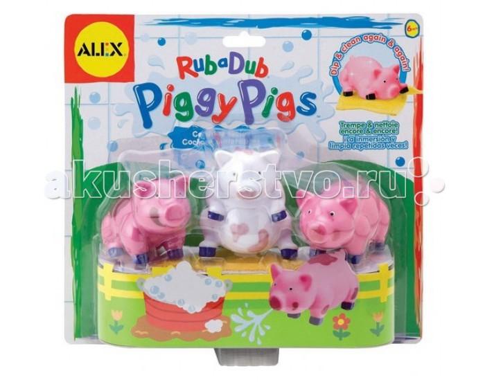 Игрушки для ванны Alex Игрушка для ванной Вымой поросенка игрушки для ванной alex набор игровой для ванны вымой щенка