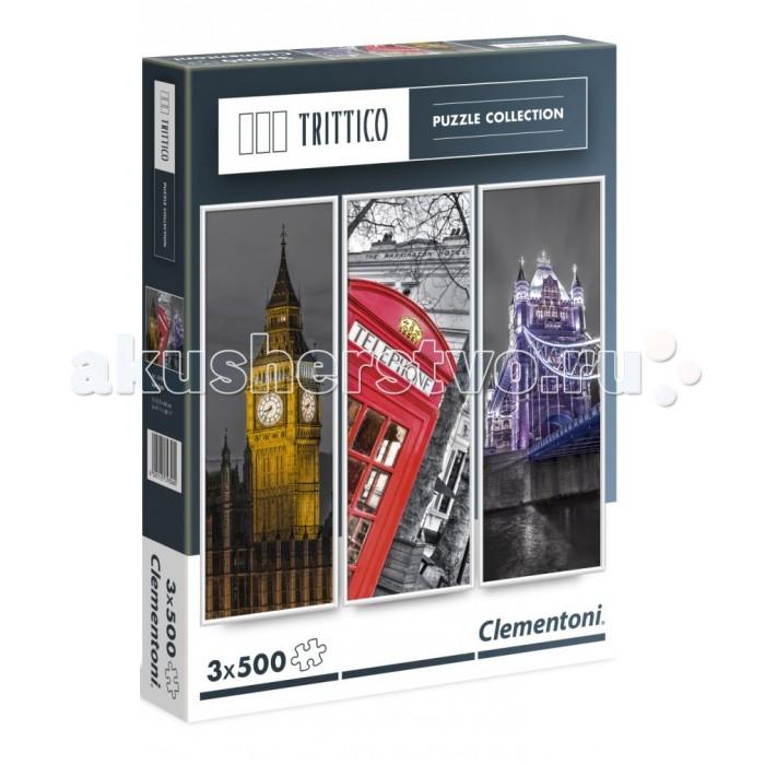 Пазлы Clementoni Пазл Trittico - Достопримечательности Лондона (3х500 элементов) пазл clementoni trittico 3х500 эл легенды нью йорка 39305