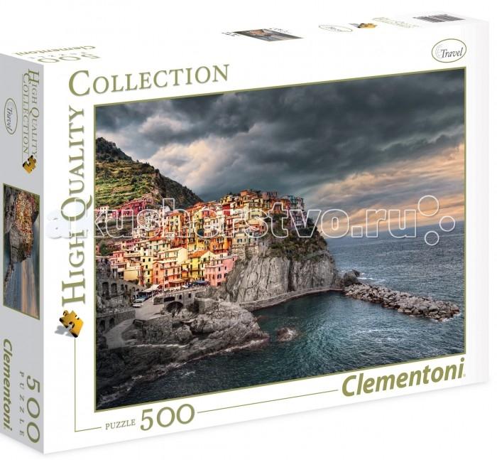 Пазлы Clementoni Пазл Манарола Италия Красочный город на скале (500 элементов)