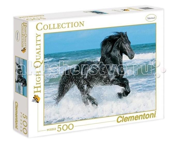 Пазлы Clementoni Пазл High Quality Collection - Вороной конь в море (500 деталей) clementoni пазл hq вороной конь в море 500