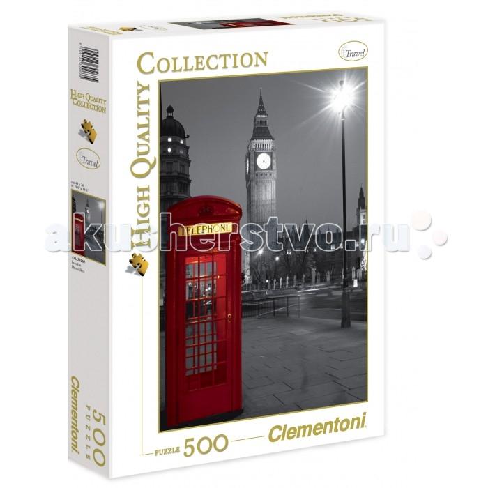Пазлы Clementoni Пазл High Quality Collection - Лондон, Красная телефонная будка (500 элементов) clementoni пазл hq лондон красная телефонная будка 500