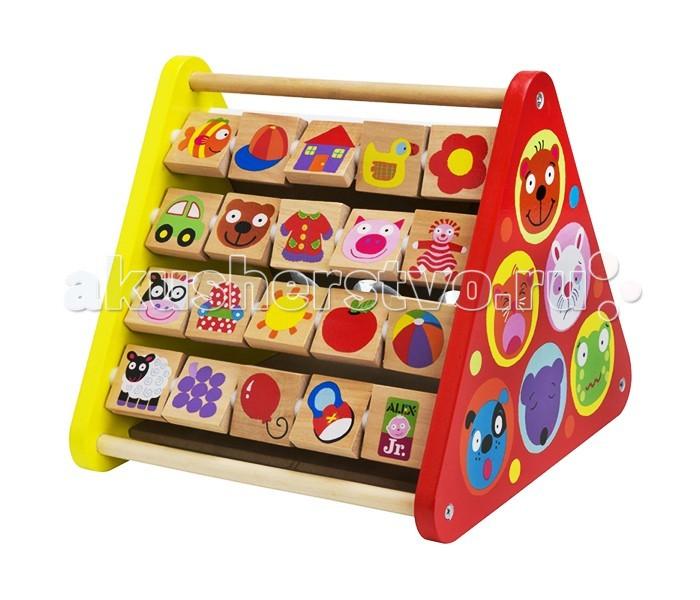 Деревянные игрушки Alex Развивающий деревянный центр Призма, Деревянные игрушки - артикул:19493