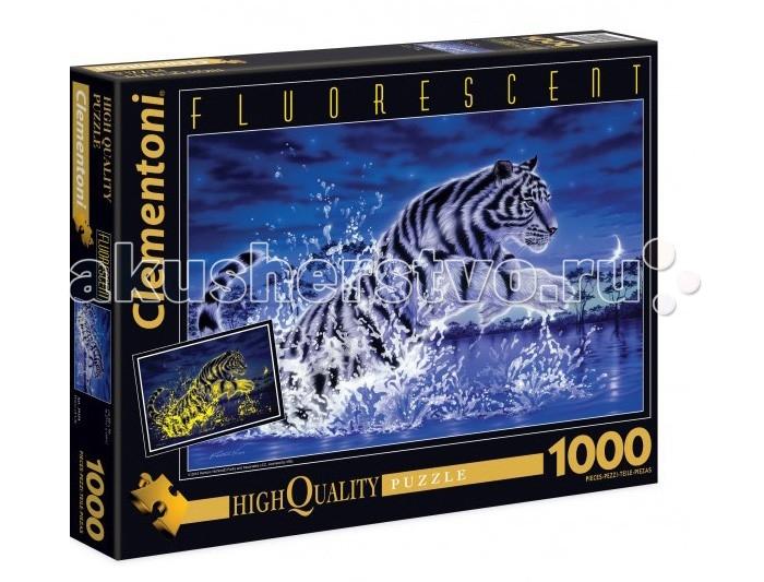 Пазлы Clementoni Пазл флуоресцентный - Кентаро Нишино Прыжок тигра (1000 элементов)