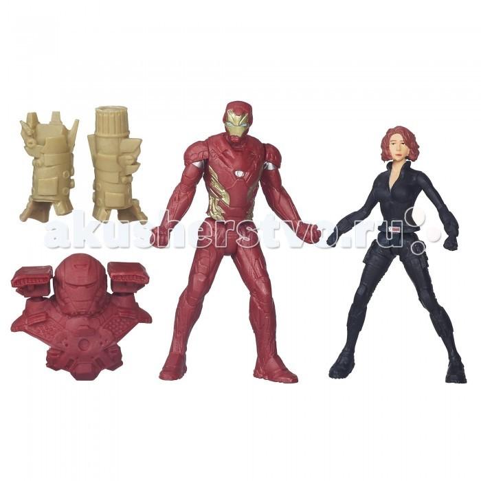 Avengers Игровой набор из 2 фигурок Мстителей: Железный Человек и Черная Вдова