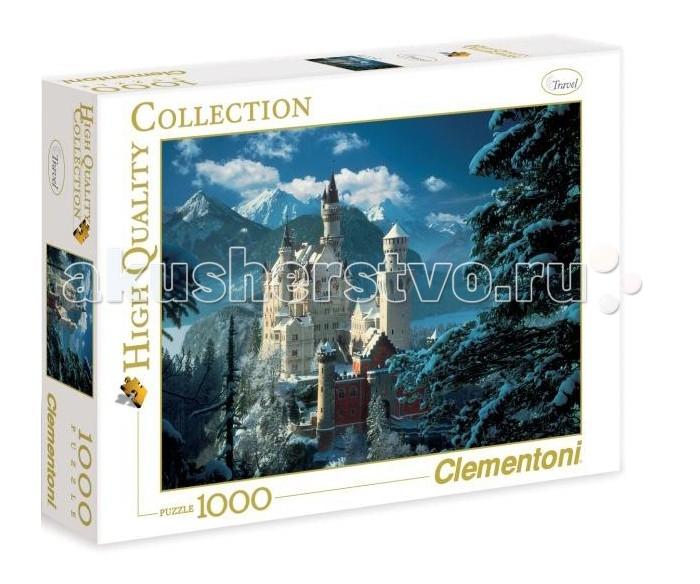 цена на Пазлы Clementoni Пазл High Quality Collection - Бавария, Замок Нойшванштайн Зима (1000 элементов)
