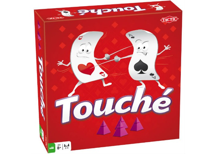 Tactic Games Настольная игра ТушеНастольная игра ТушеTactic Games Туше - обновленная версия популярной стратегической настольной игры. Это увлекательная игра подходит как для семейного досуга, так и для вечеринки во взрослой компании и даже для самостоятельной игры детей старше 8 лет.   Как и в прежней версии, вам придется возводить собственные строения в различных местах игрового поля, местоположение которых будет определяться вытянутыми картами. Когда фигура будет готова, громко кричите «Туше!», чтобы все игроки знали о вашем успехе. Победителем признается тот, кто построит максимальное количество фигурок.   В наборе: игровое поле, 110 карт, 210 пирамид четырех разных цветов, правила игры на русском языке. Количество игроков: 2-6 человек.  Продолжительность партии: от 30 минут.<br>