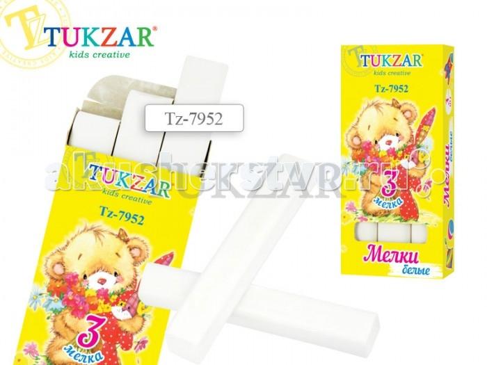 Мелки Tukzar белые 3 шт. фонарь maglite 2d синий 25 см в картонной коробке 947191