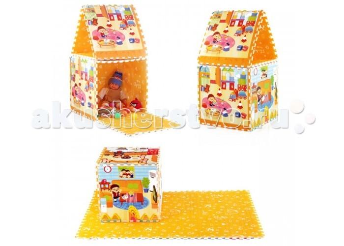 Игровой коврик Mambobaby Семейный домСемейный домКоврик-пазл Mambobaby Семейный дом этот коврик односторонний из мягкого, но прочного поролона, он не промокает, очень легкий. Каждый элемент пазла - это квадрат 60 на 60 см. Если сложить все элементы воедино, можно увидеть законченную картинку.  Особенности:  Размер 180х120х2см. Каждый пазл размерами 60х60 см. Теплоизолирующий. Изготовлен из безопасных материалов.<br>