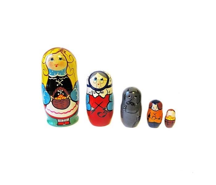 Деревянные игрушки Бэмби Матрешка Красная шапочка 7705 мобили bairun музыкальная карусель красная шапочка