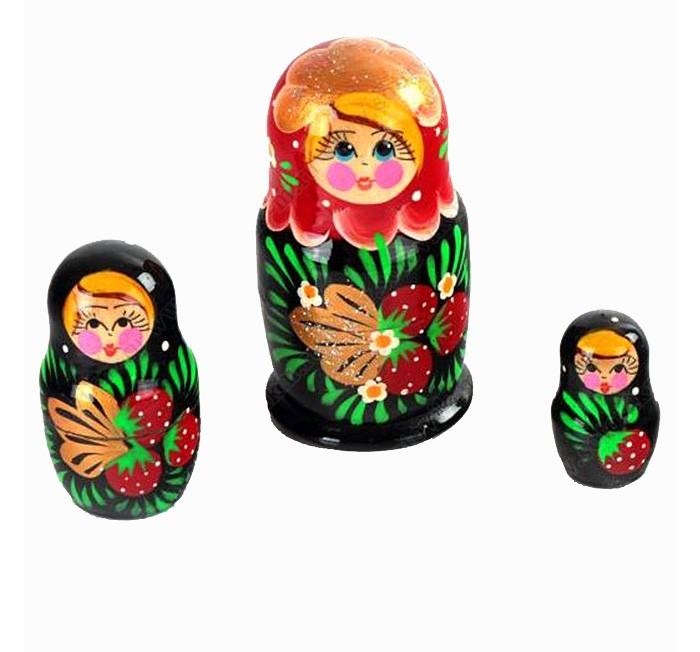 Деревянные игрушки Бэмби Матрешка 3 в 1 расписная P45/753