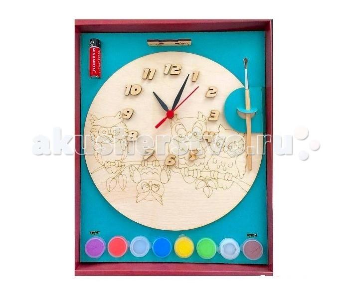 Заготовки под роспись Бэмби Часы с циферблатом под роспись Совы ДНИ 7816