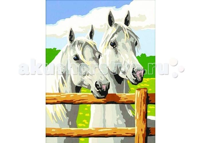Картины по номерам Molly Картина по номерам В ожидании скачек цветной картины по номерам щенки на поляне