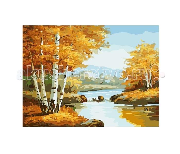 Картины по номерам Molly Картина по номерам Золотая осень мозаика по номерам золотая рыбка